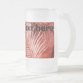 Red Tropical foliage coffee mug