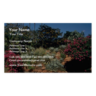 Red Tropical gardens in the city of Madurai, India Business Cards