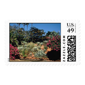 Red Tropical gardens in the city of Madurai, India Postage Stamps