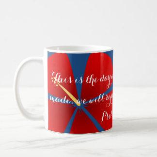 Red Tropical Hibiscus Mug Bible Verse