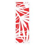 RED TROPICAL Slim Business Card Pack Of Skinny Business Cards