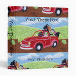 Red Truck and Labradors Painting Binder