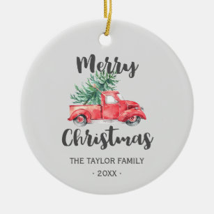 Family Car Ornament Holiday Gift Ceramic Ornament Personalized Christmas Ornament Custom Ornament SUV Tree Ornament Truck Ornament