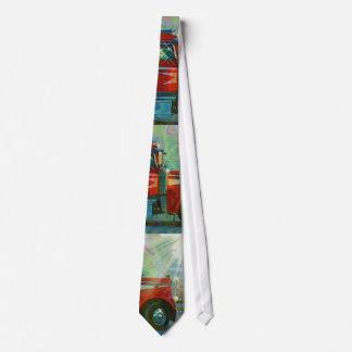 RED TRUCK BIG RIG TRUCKERS Fashion Tie