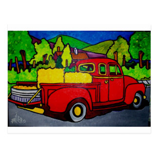 Red Truck by Pilieo Postcard