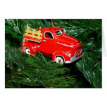 Red Truck Christmas  Ornament  1 Greeting Card