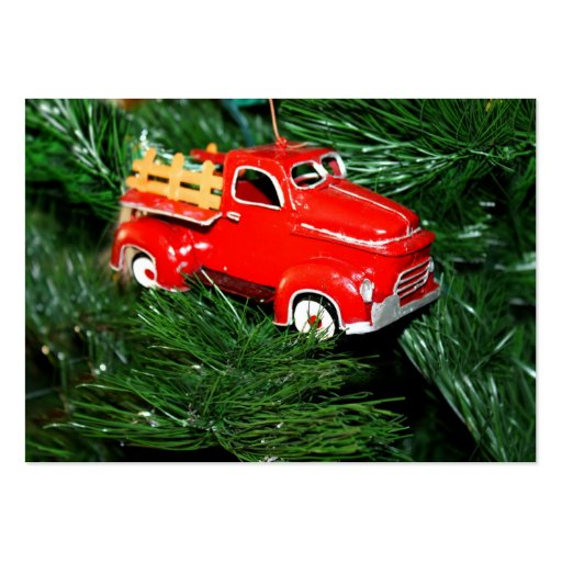 Red Truck Christmas  Ornament  2 Business Card