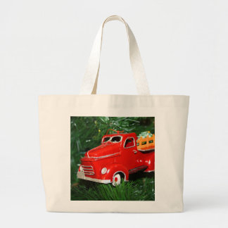 Red Truck Christmas  Ornament (4) Canvas Bags