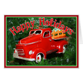 Red Truck Christmas  Ornament (4) Card
