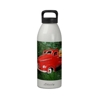Red Truck Christmas  Ornament (4) Drinking Bottle
