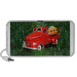 Red Truck Christmas  Ornament (4) iPod Speakers