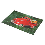Red Truck Christmas  Ornament (4) Place Mats