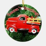 Red Truck Christmas  Ornament Christmas Ornament