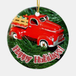 Red Truck Christmas  Ornament Ornaments