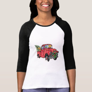 Red Truck Christmas Retrievers T-Shirt