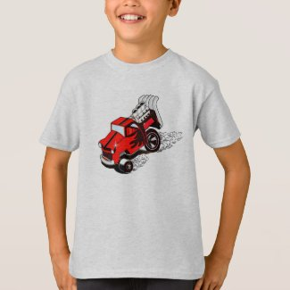 Red Truck Dragster T-Shirt