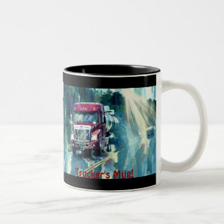 Red Truck Drivers Coffee Break Drinking Mug