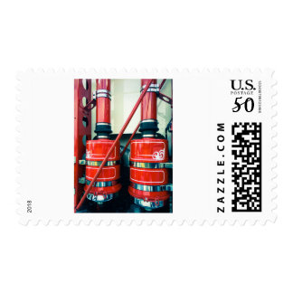 Red Truck Exhausts Postage