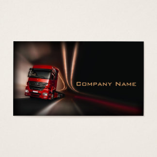 Red Truck In The Motion Card