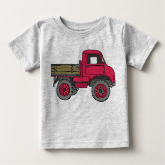 Red truck infant t-shirt