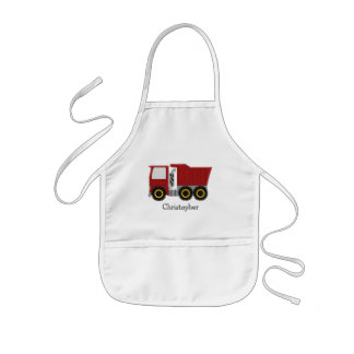 Red Truck Just Add Name Kids' Apron
