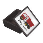 Red Truck Just Add Name Premium Trinket Boxes