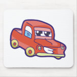 Red Truck Mouse Pads