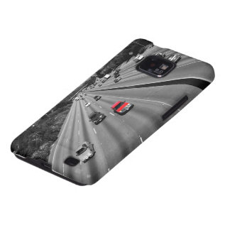 Red Truck On The Freeway Samsung Galaxy S2 Case