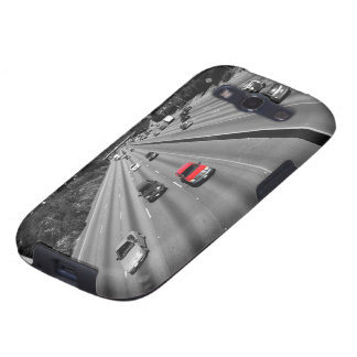 Red Truck On The Freeway Samsung Galaxy S3 Cases