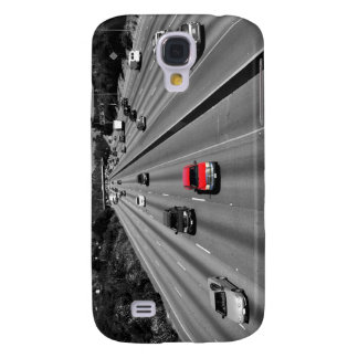Red Truck On The Freeway Samsung Galaxy S4 Covers