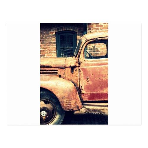 Red Truck Wreck Postcard