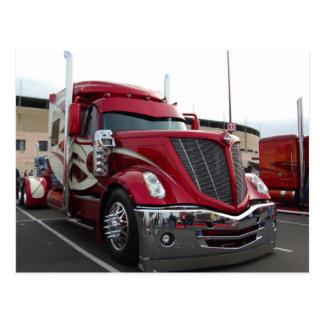 Red Trucker Postcard