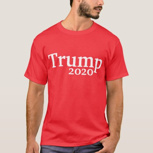Red Trump 2020 Campaign T_Shirt