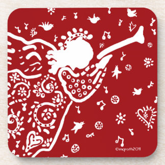 Red trumpet angel coaster