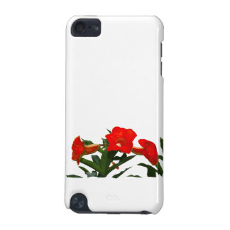 Red Trumpet Flowers cutout photo floral design iPod Touch (5th Generation) Cover