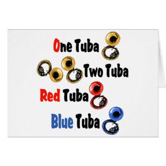 Red Tuba Blue Tuba Card