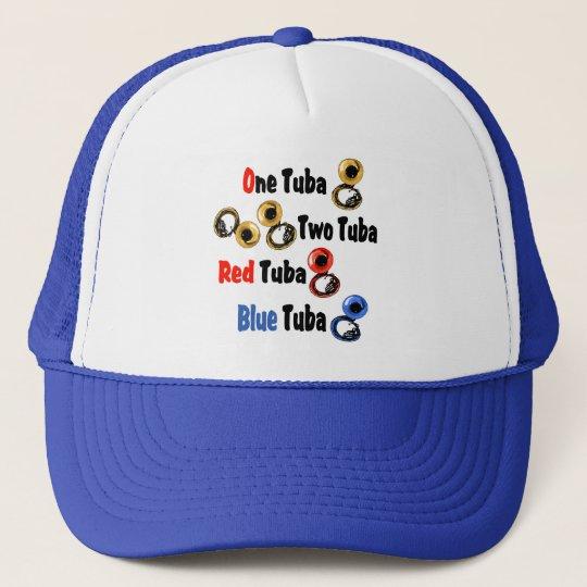Red Tuba Blue Tuba Trucker Hat