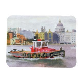 Red Tug passing St. Pauls 1996 Magnet