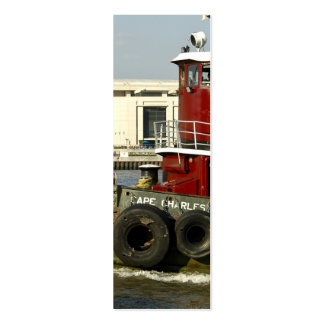 Red Tugboat Double-Sided Mini Business Cards (Pack Of 20)