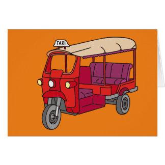 Red Tuk-tuk Card