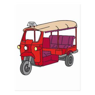 Red Tuktuk Postcard