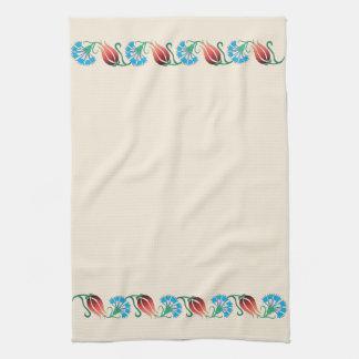 Red Tulip Blue Carnation Towel