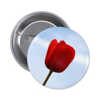 Red Tulip Button