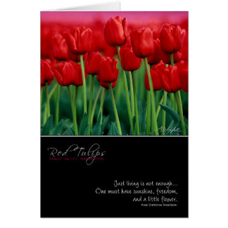 Red Tulip Card with Quote