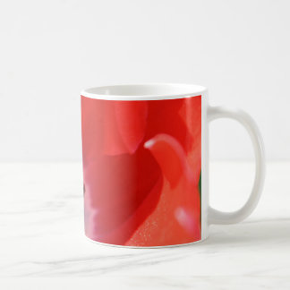 Red tulip coffee mug