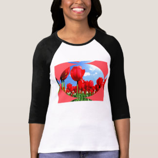 Red Tulip Delight T-Shirt