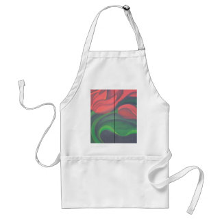 Red Tulip Diptych Adult Apron