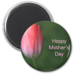 red tulip flower, happy mother's day magnets