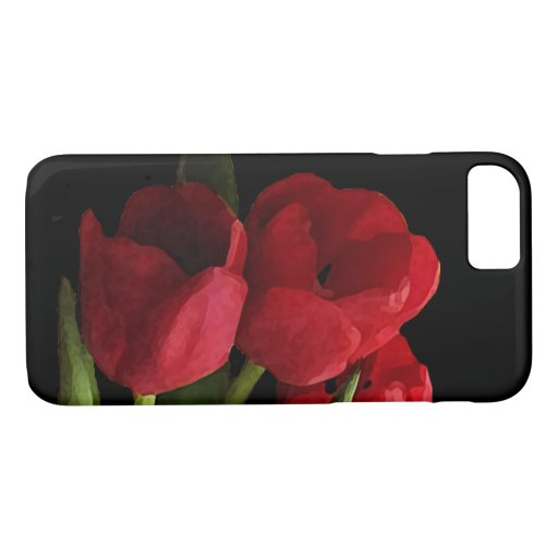 Red Tulip Flowers iPhone 7 Case