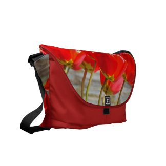 Red Tulip Flowers Messenger Bags Holiday Gifts